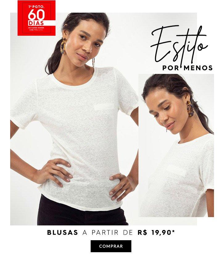Blusas a partir de R$ 19,90 | Feminino