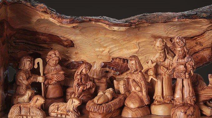 Olivenholz-Krippen aus Jerusalem