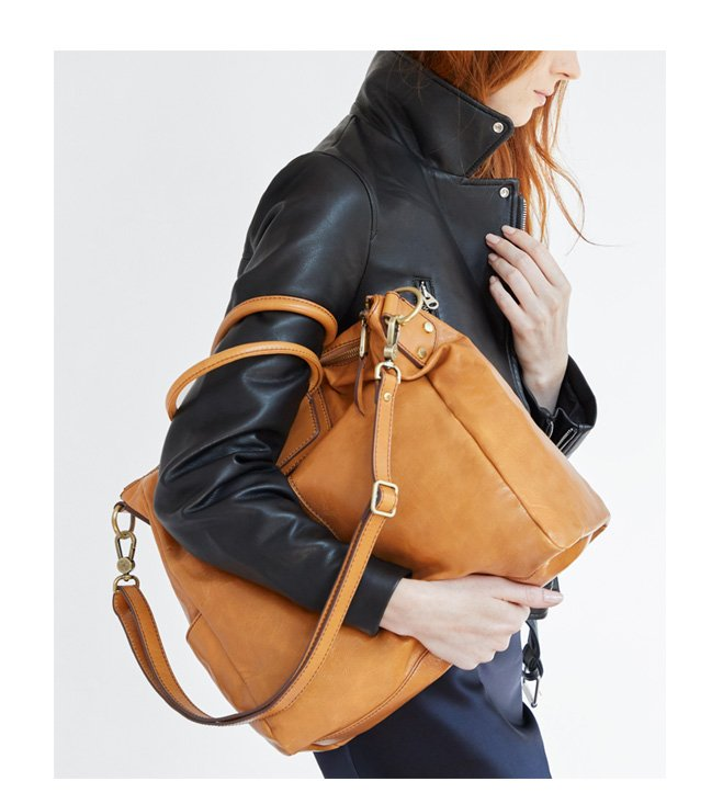 Shop our iconic leather handbag - The Sheila!