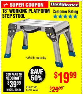 View 18 In. Working Platform Step Stool