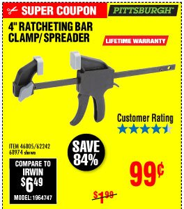 View 4 in. Ratcheting Bar Clamp/Spreader