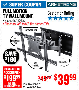 View 37 in. to 80 in. Full-Motion TV Wall Mount