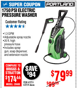 View 1750 PSI 1.3 GPM Electric Pressure Washer