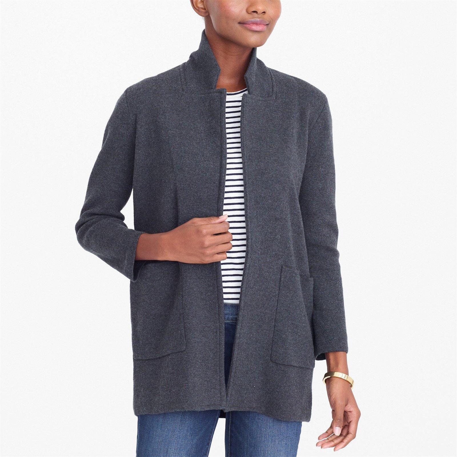 Open-front sweater blazer