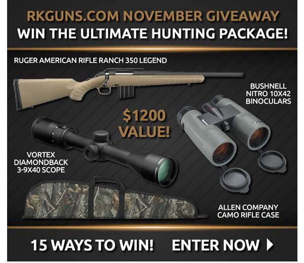 RK GUNS NOVEMBER GIVEAWAY - WIN THE ULTIMATE HUNTING PACKAGE! ENTER NOW >