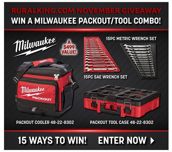 RK NOVEMBER GIVEAWAY - WIN A MILWAUKEE PACKOUT/TOOL COMBO! ENTER NOW >