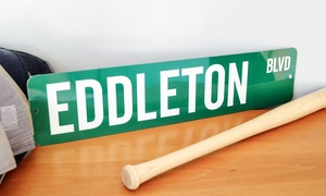 Personalized Metal Street Signs