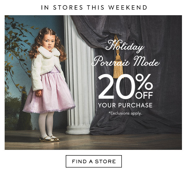 Holiday Portrait Mode. 20% Off Your Purchase