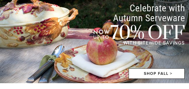 Celebrate with Autumn Serveware - Now 70% off