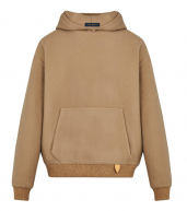 Louis Vuitton Camel Cashmere & Wool Leather Tab Hoodie