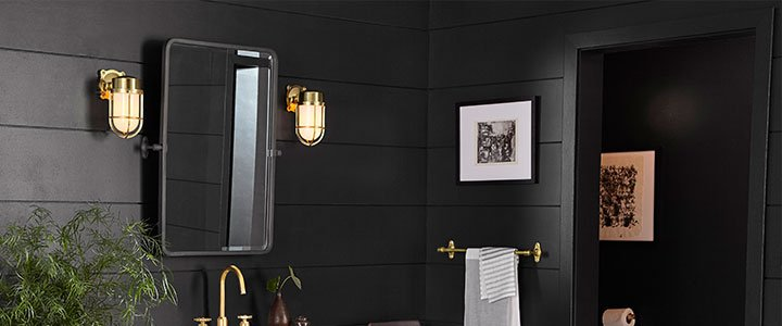 Create your ideal bath with our timeless lighting, configurable vanities, and hardware. We also offer a range of fully customizable, UL damp-rated ceiling lights to createa one-of-kind look for your bath.