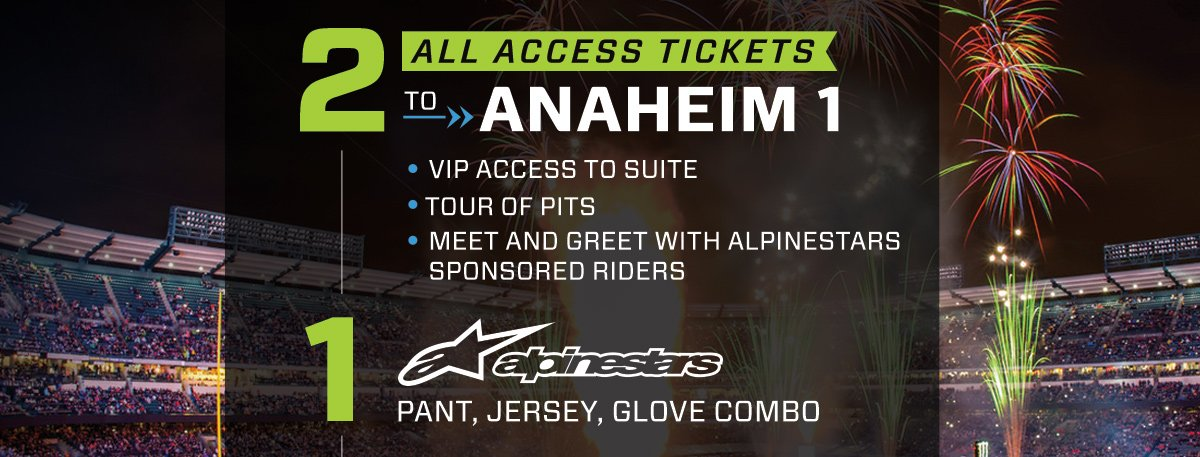 Enter To Win The Anaheim 1 Supercross VIP Experience