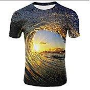 Men's Plus Size T-shirt - Galaxy / 3D Pri...