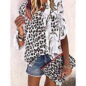 Women's Daily Shirt - Leopard Black