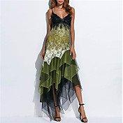 Women's Elegant Asymmetrical Sheath Dress...