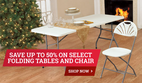 Save up to 50% on Select Living Accents Folding Tables and Chair