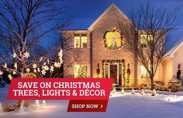 Save on Christmas Trees, Lights & Décor