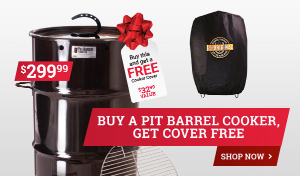 BOGA Buy Pit Barrel Cooker get Cover FREE