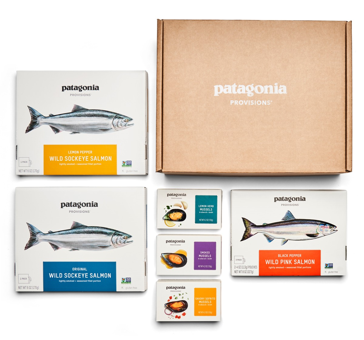 salmon and mussels gift box Image