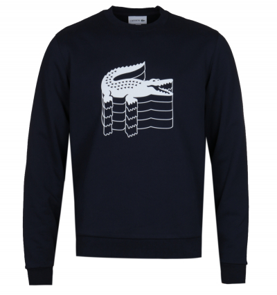 Lacoste Block Colour Big Logo Navy Sweatshirt