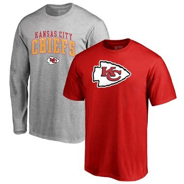 Kansas City Chiefs NFL Pro Line by Fanatics Branded Square Up T-Shirt Combo Set - Red/Gray