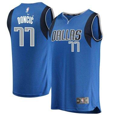 Men's Fanatics Branded Luka Doncic Blue Dallas Mavericks 2018 NBA Draft First Round Pick Fast Break Replica Jersey - Icon Edition