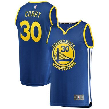 Men's Fanatics Branded Stephen Curry Royal Golden State Warriors Fast Break Replica Jersey - Icon Edition