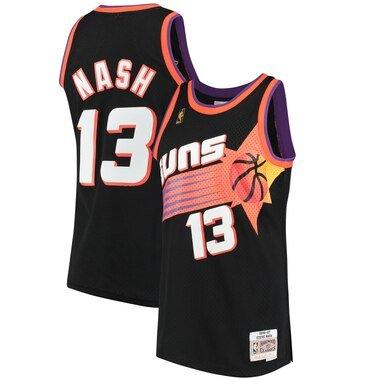 Men's Mitchell & Ness Steve Nash Black Phoenix Suns 1996-97 Hardwood Classics Swingman Jersey