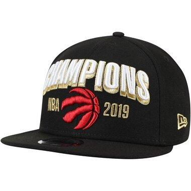 Men's New Era Black Toronto Raptors 2019 NBA Finals Champions Locker Room 9FIFTY Snapback Adjustable Hat