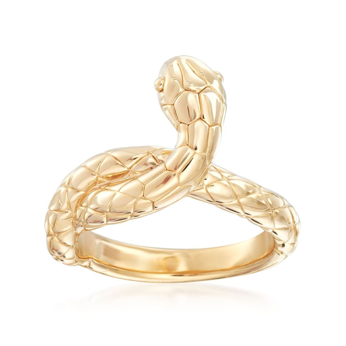 14kt Yellow Gold Snake Ring