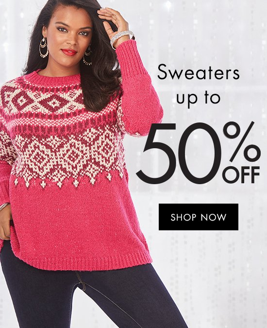Sweaters up to 50% off