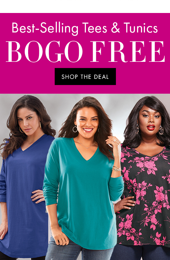 Best-Selling Tees and Tunics BOGO Free | Shop the deal