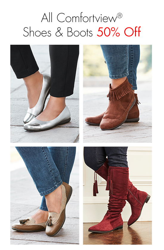 All Comfortview Shoes and Boots 50% Off