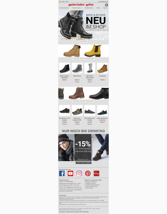 Unsere Top 3 Schuhe im Februar gebrüder götz