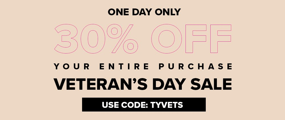 SHOP WITH 30% OFF YOUR ENTIRE PURCHASE!