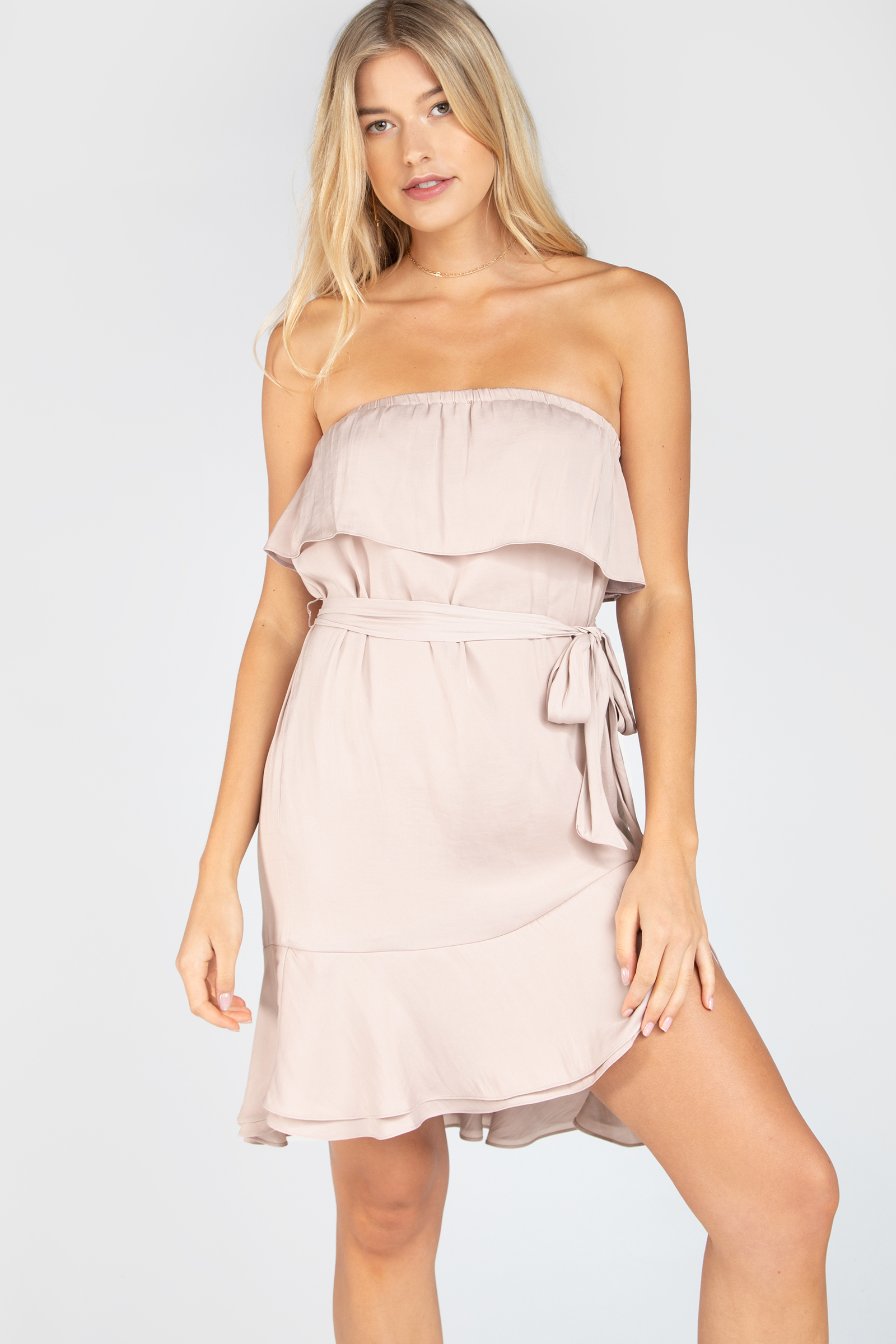 AVALYN HIGH LOW TUBE DRESS