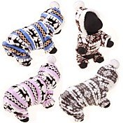Dog Sweater Hoodie Jumpsuit Winter Dog Cl...