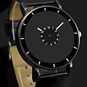 Men's Dress Watch Quartz Leather Black / ...