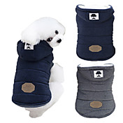 Dog Coat Hoodie Winter Dog Clothes Blue G...