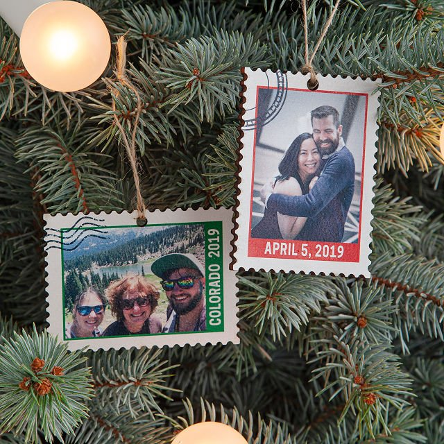 Personalized Photo Stamp Ornament