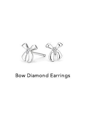 Bow Diamond Earrings