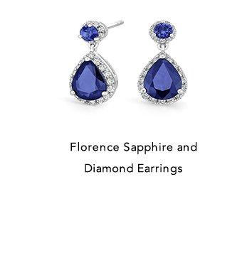 Florence Sapphire and Diamond Earrings