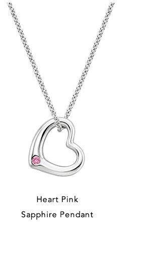 Heart Pink Sapphire Pendant