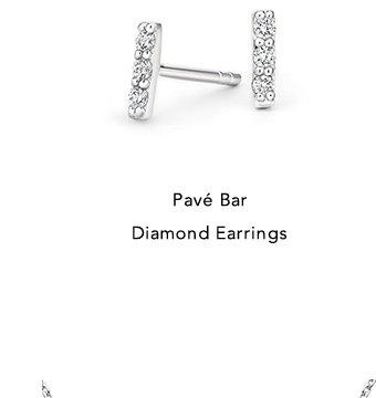 Pave Bar Diamond Earrings
