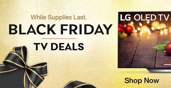 Black Friday TV Deals While supplies last. Shop Now