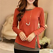 Women's Daily Slim T-shirt - Solid Colore...