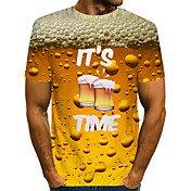 Men's Daily Basic T-shirt - Plain Round N...