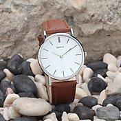 Men's Wrist Watch Quartz Leather Black / ...
