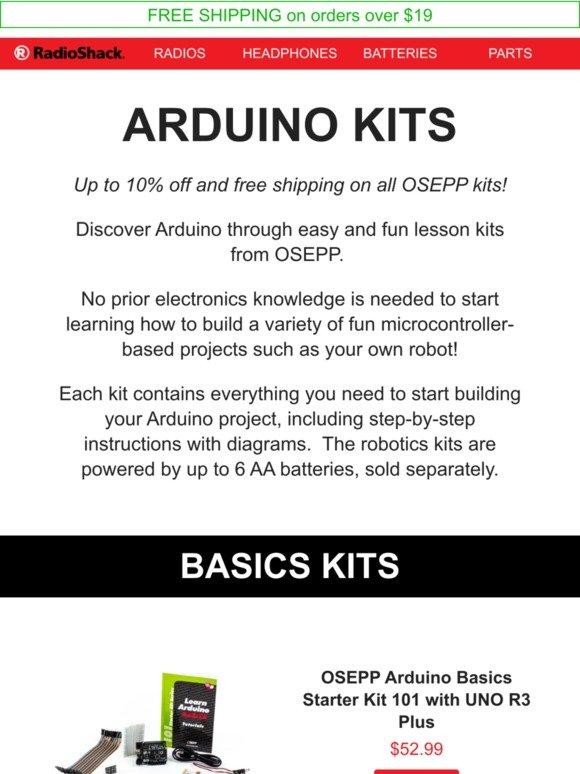 RadioShack: Up to 10% off new Arduino Kits! | Milled
