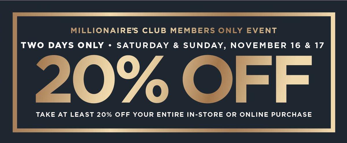20% Off Member Event